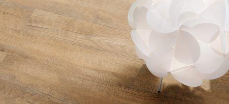 wineo Designboden Holzoptik Braun weiße Dekoraktion