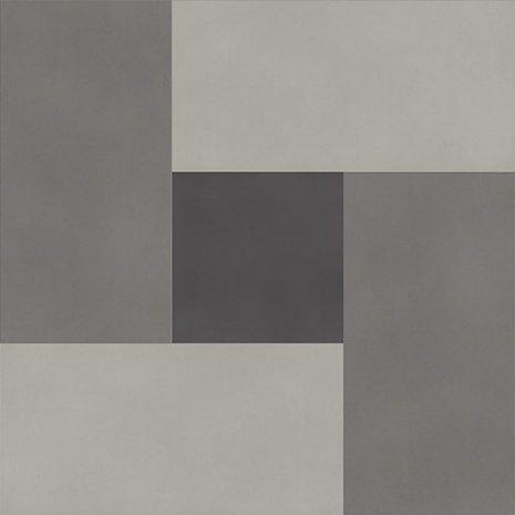 wineo Designboden Verlegekombinationen Muster verschiedene Grautöne