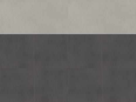 wineo Designboden Verlegekombinationen Muster dunkelgrau mit hellgrauem Streifen