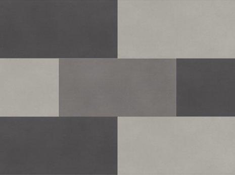 wineo Designboden Verlegekombinationen Muster Grautöne vermischt