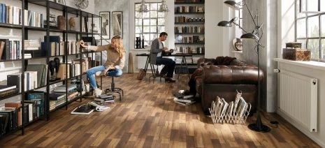 wineo Laminatboden verschiedene Holzoptik im Büro zuhause