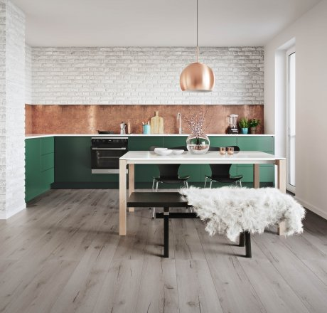 wineo 500 Laminatboden Küche Strong Oak Grey LA178XXLV4