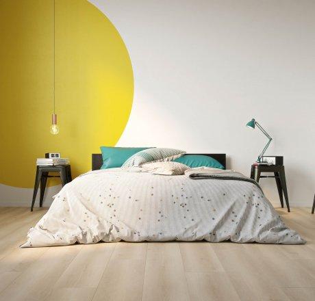 wineo 500 Laminatboden Schlafzimmer Smooth Oak Beige LA165LV4